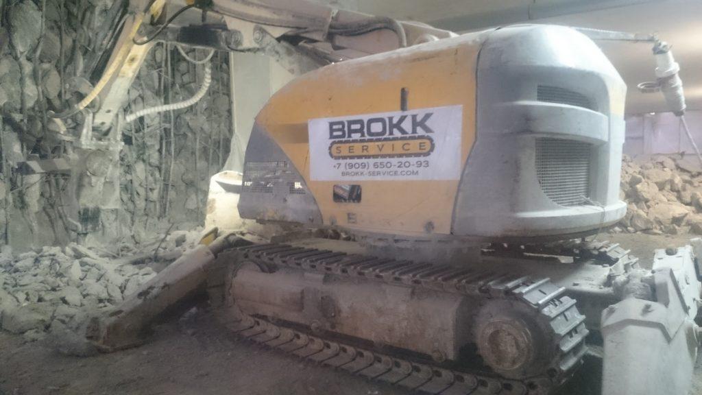 Робот-разрушитель Brokk от компании Брокк Сервис для проведения демонтажа любой сложности