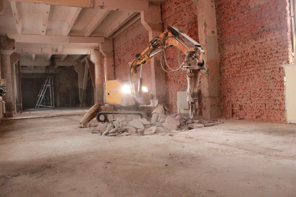 Демонтаж бетонного основания для реставрации