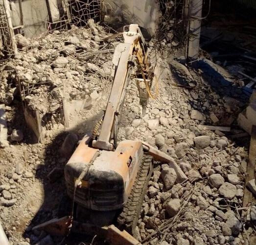 Демонтаж бетонных и железобетонных конструкций с помощью робота Brokk