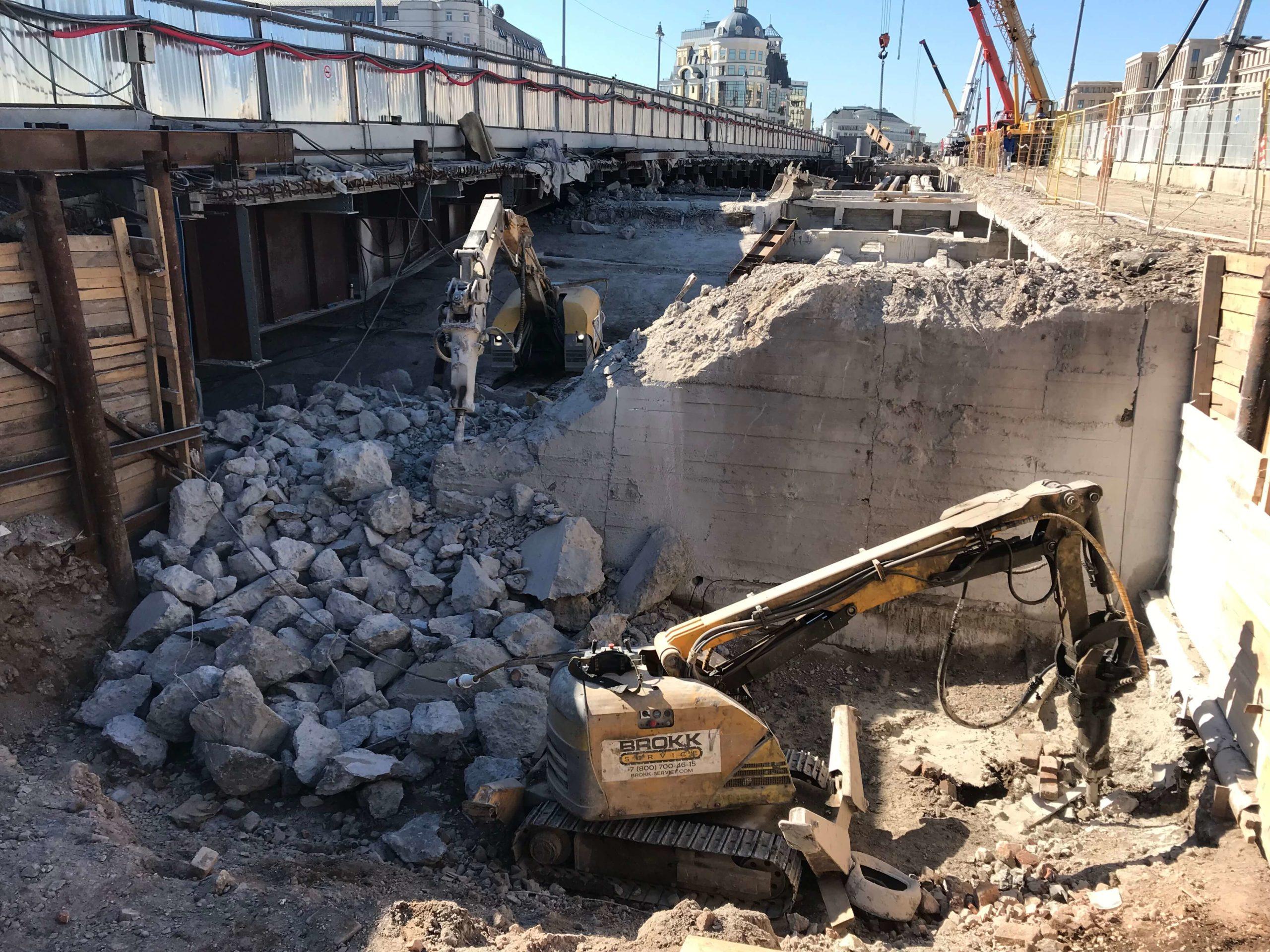 Работы по реконструкции моста
