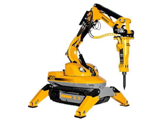 Brokk 100 – модель робота-разрушителя для демонтажа в ограниченном пространстве