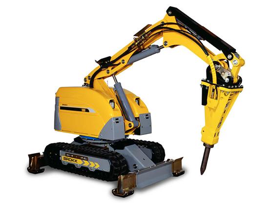 Brokk 180 – многоцелевой компактный робот-разрушитель