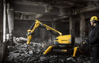 Робот-разрушитель Brokk